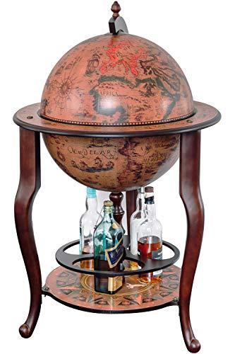 Stilemo Mappamondo Bar Stile Antico - Globo portabottiglie Whisky - Porta Whisky con Carta...