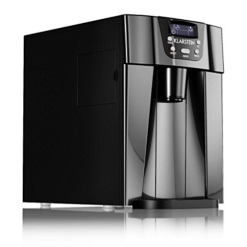Klarstein Ice Volcano 2G • macchina per il ghiaccio • 12 kg/24 h • 2 dimensioni • preparazione in 6-12 min • Dispenser • Timer • Display LCD • illuminazione a LED • silenzioso • plastica • nero