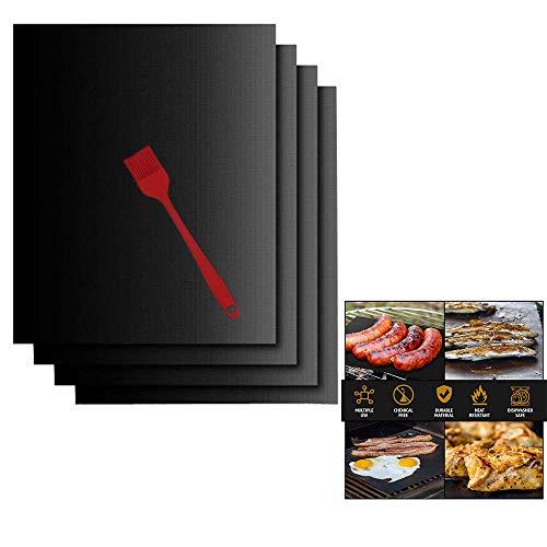 ACOMG Set di 6 stampi per Barbecue, stoviglie antiaderenti con spazzolino in Silicone,...