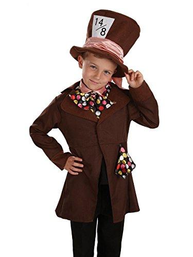 Poco Sombrerero Loco / Alicia en el país de las maravillas - Childrens Disfraz - Grande - 136cm - Edad 8-10