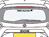 Graphic Worx Renault Zoe 100% Elektro Aufkleber - Black 36cm x 4cm