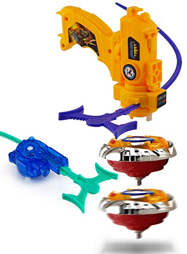 Wishkey High Speed Bayblade Metal Fusion Set with Launcher for Kids - Multi Color