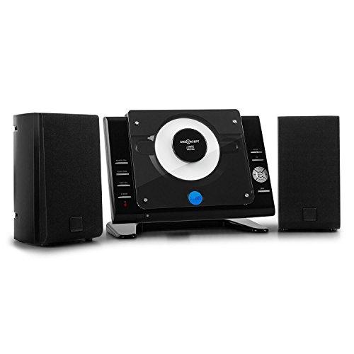 oneConcept Vertical 70 • mini impianto stereo compatto verticale • porta USB MP3 • display LCD...