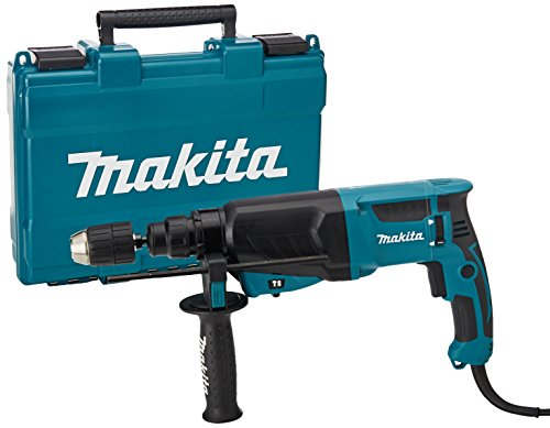Makita HR2630X7 3-Mode SDS+ Rotary Hammer 26 mm, 240 V with Additional Keyless Chuck and Adaptor