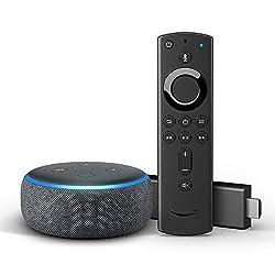 Kaufen Fire TV Stick 4K mit Alexa-Sprachfernbedienung + Echo Dot (3. Gen.)
