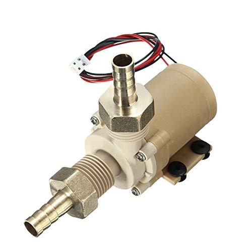 12V 6W Pompe à Eau sans Brosse à Courant continu Pompe en céramique Pompe de Circulation d'eau Chaude Solaire à Haute température résistant à la Chaleur
