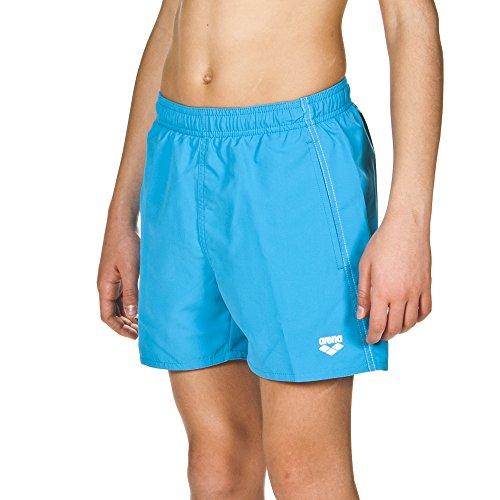 arena Jungen Badeshortss Fundamentals Boxer (Schnelltrocknend, Seitentaschen, Kordelzug, Weiches Material), Pix Blue-White (811), 164