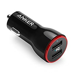 Kaufen Anker PowerDrive 2 Auto Ladegerät 24W / 4.8A 2-Port USB Kfz Ladegerät Power IQ für iPhone 8 / 8 Plus/ iPhone X, iPad Air / Mini, Samsung Galaxy / Note, Nexus, HTC, LG, Tablets, Bluetooth Geräten, Powerbank und mehr