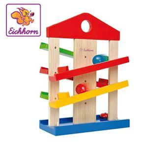Eichhorn - Circuito de Bolas y Rampas en Madera, para Niños a partir de 1 Año - 25 x 12 x 34 cm