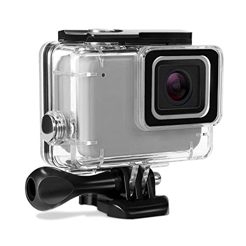 Kupton Custodia Protettiva Impermeabile per GoPro Hero 7 Argento/White Case Subacquea 60m con Attaco Mobile Rapido e Vite per Go Pro Hero7 Argento/White