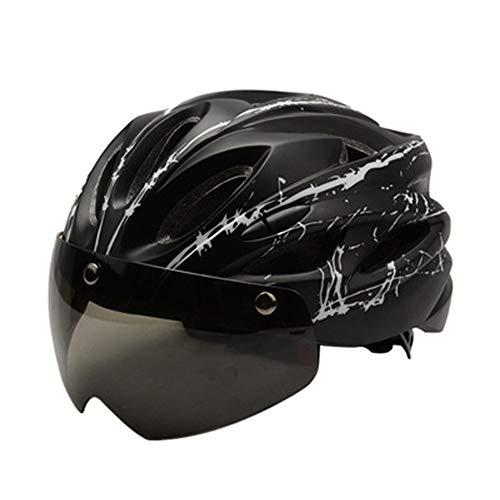 Bicicleta de Bicicleta magnética con Gafas de protección Casco de Bicicleta de montaña Integrado Molde Exterior Equipamiento de conducción al Aire Libre Cascos de Motocross Máscaras de Casco