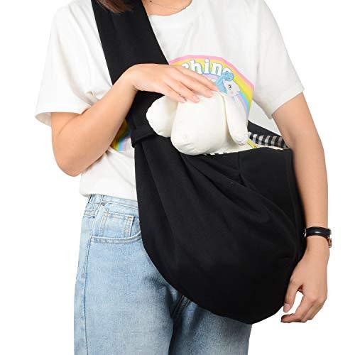PetLoft Haustier-Tragetasche, wendbar, Schultertragetasche, Händefrei, mit Haken für Hunde/Katze/Kaninchen bis zu 11 kg
