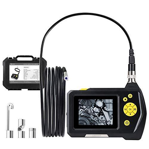 [Sottile 5,5 mm Diametro] Shekar Telecamera d'Ispezione Digitale Snodabile con Schermo a Colori da 2,7' e 3m di Cavo, Funzione di Zoom, Endoscopio Periscopico Impermeabile Palmare.