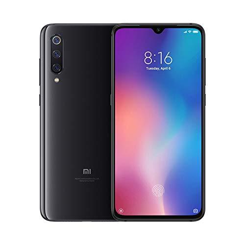 """Xiaomi Mi nueve – Smartphone de AMOLED de 6,39"""" (4G, Octa Core Qualcomm SD 855 2.8 GHz, RAM de seis GB, memoria de 64 GB, cámara triple de 48 + 16 + doce MP, Android) color negro piano [Versión española]"""