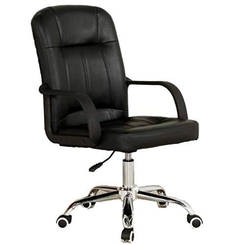 HARD Sedia da ufficio con schienale alto e sedile inclinato. Poltrona girevole per computer in PU nera