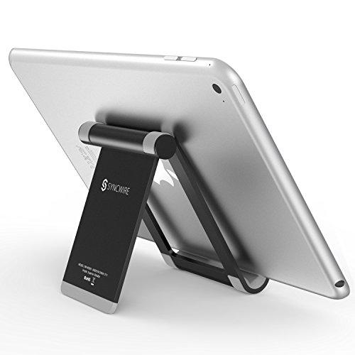 Syncwire Supporto Tablet Porta iPad iPhone - Regolabile 360-Gradi Supporto da Tavolo Portatile per...