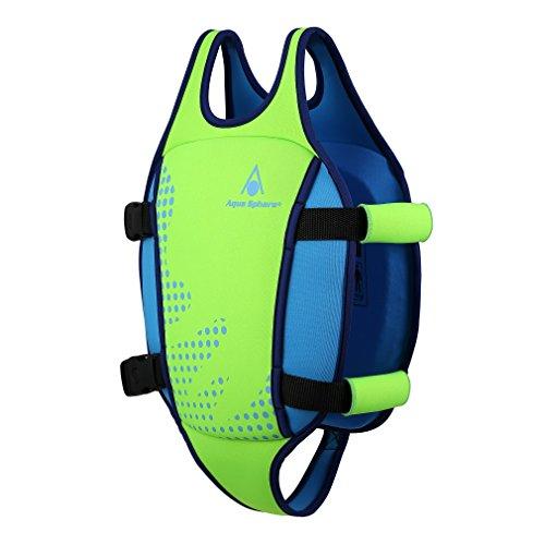 Aqua Sphere Unisex Jugend Swim Vest Schwimmweste Grün Medium (2-3Y)