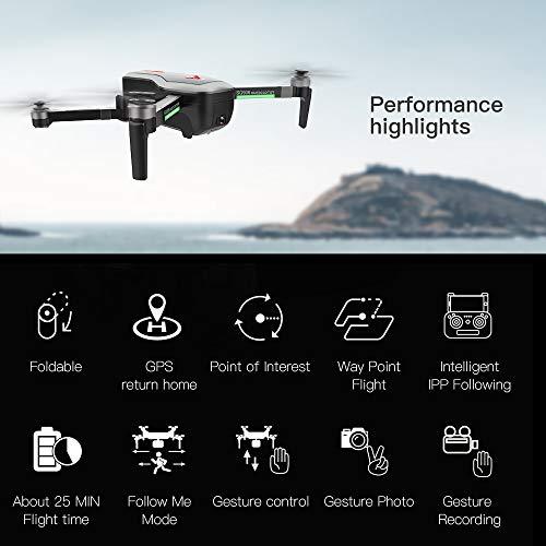 Leslaur SG906 GPS Brushless 4K Drone con Fotocamera Borsa 5G WiFi FPV Pieghevole Flusso Ottico di...