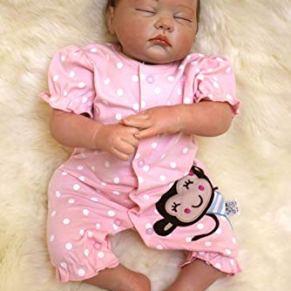 OREH Simulación Reborn Muñecas bebé Ojos Cerrados Niñas Realista Baby Dolls 20 Pulgadas 50 cm Magnética Juguete Regalo…
