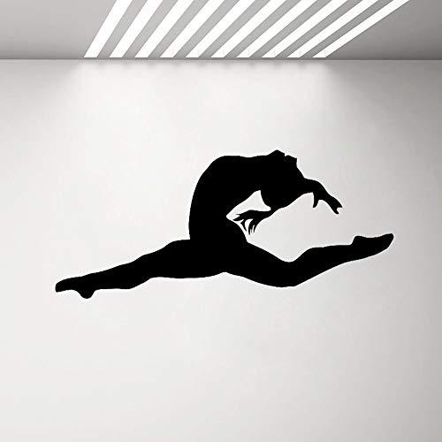 SLQUIET Ginnastica Adesivi murali Ragazze Camera da Letto Sport Fitness Yoga Vinile Applique Dance...