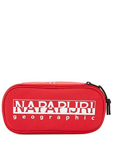 Napapijri HAPPY PEN ORGANIZER Astuccio, 22 cm, Rosso (Pop Red), poliestere