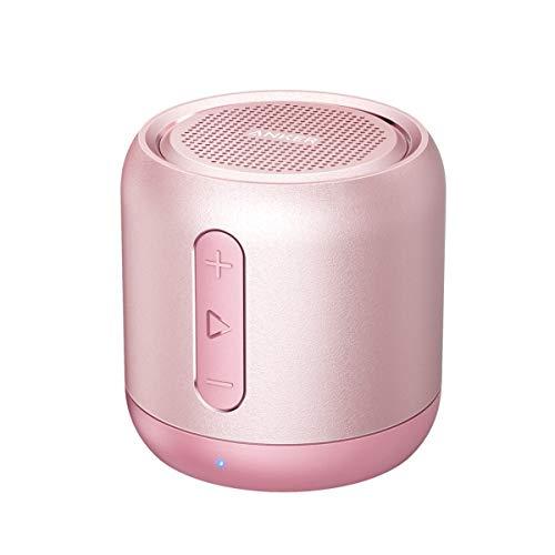 Anker SoundCore Mini Super Mobiler Bluetooth Lautsprecher Speaker mit 15 Stunden Spielzeit, 20 Meter Bluetooth Reichweite und Starkem Bass (Rosa)