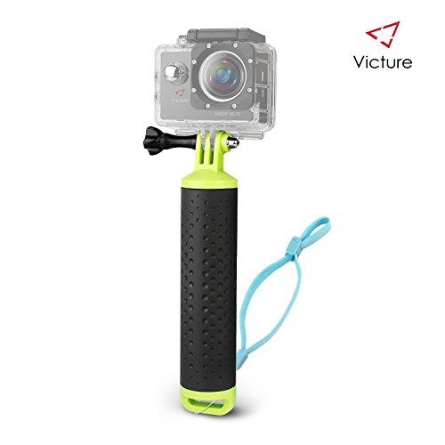 Victure Handle Mount Floating Grip impermeabile braccio autopulente per mano Handie Grip per la macchina fotografica d'azione con cinghia e vite a polso registrabile