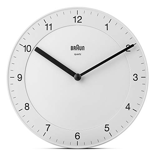 Braun BNC006WHI-WH-Orologio da Parete, plastica, 20 cm BNC006WHI-WH