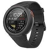 Amazfit Verge Xiaomi Montre Connectée Smartwatch - Montre de Sport GPS | Capteur de Fréquence Cardiaque | IP68: Résistance à l'eau | Jouer de la Musique | Gris (Version Internationale) iOS-Android