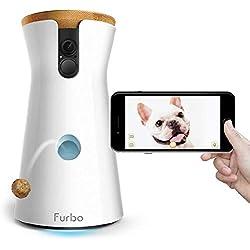 Furbo - VIDEOCAMERA per Cani: Telecamera HD WiFi per Animali con Audio Bidirezionale, Visione Notturna, Alerta Latrato e Lancio di Croccantini