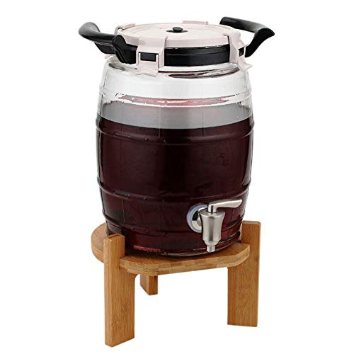 BLWX-Wine barrel LY Botte di Vino in Vetro 8L con Rubinetto , Enologo con Serratura , Dispenser...