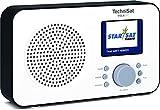 """TechniSat Viola 2 C tragbares DAB Radio (DAB+, UKW, Lautsprecher, Kopfhöreranschluss, 2,4"""" Farbdisplay, Tastensteuerung, klein, 1 Watt RMS) weiß/schwarz"""