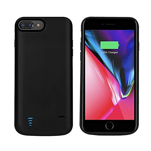 RUNSY iPhone 8 Plus / 7 Plus / 6S Plus / 6 Plus Battery Case, 8000mAh Rechargeable Battery Charging Case, External Battery Charger Case, Backup Power Bank Case, Support Lightning Headphones (5.5 inch)