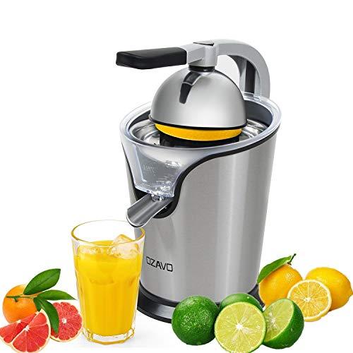 OZAVO Zitruspresse elektrisch, Orange Saftpresse mit Hebelarm, Citrus Juicer für frische Zitrusfrüchten, Anti-Tropf Mechanismus, leise Motor