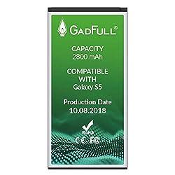 Kaufen GadFull Akku für Samsung Galaxy S5 | 2018 Baujahr | Wie EB-BG900BBE EB-BG900 | Galaxy S5 SM-G900F | Batterie Accu Battery