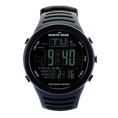 Deportes al Aire Libre Pesca Reloj, Impermeable Barómetro Digital Inteligente Reloj del termómetro del altímetro Velocidad Monitor de Pulsera, la Pesca de Escalada Senderismo