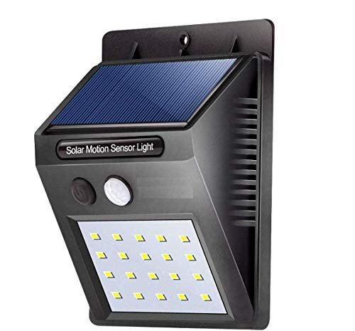 MaaHi EnterpriseLED Solar Motion Sensor Light Wireless Security Outdoor Weatherproof Driveway Garden LED Night Light (Black)