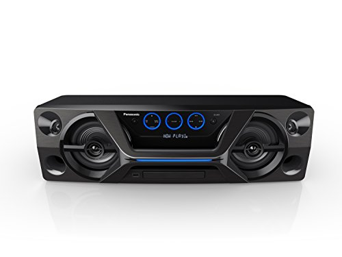 Panasonic HiFi SC-UA3GW-K Wireless Bluetooth Speaker System with CD Player and Karaoke (Black)