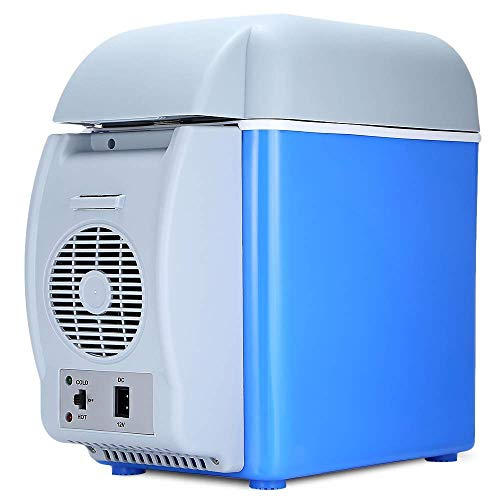 ElectroSky Portable 12V 7.5L ABS Multi-Function Auto Car Mini Fridge Travel Refrigerator Home Cooler Freezer, Warmer