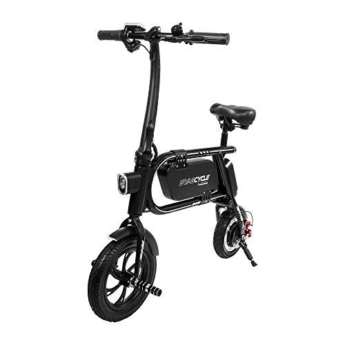 "Swagtron 36860-2 SCE-1 12T 200W Envy Steel Frame Folding Electric Bike 14"" Frame (Black)"