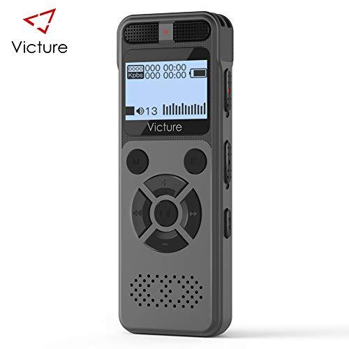 Victure Registratore Vocale Digitale, 8GB 1536 Kbps USB con Lettore MP3, Professionale Portatile...