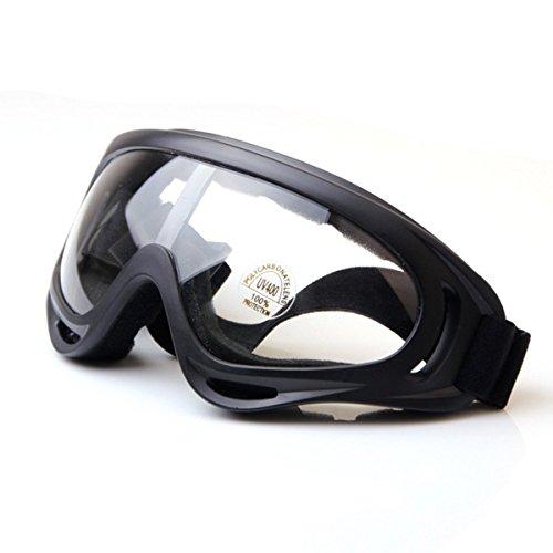 TININNA Gafas de Motorista para Motero Plegable Ajustable Gafas de protección Color(Transparente)