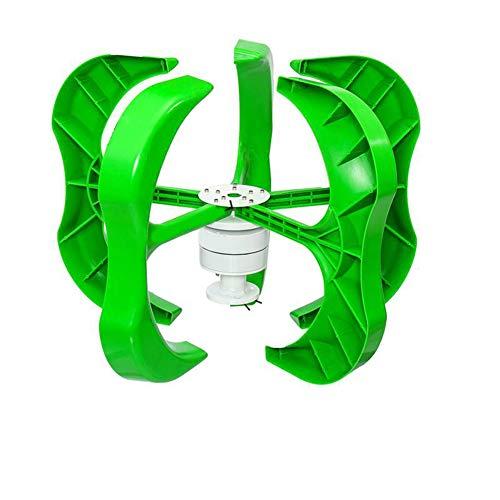 R&Xrenxia 3000W 12V Generador De Turbina Eólica Kit De 5 Palas Controlador De Generador Eólico Híbrido Generador De Turbina Eólica Controlador De Carga Híbrido 20A Energía para El Hogar,12v,3200W
