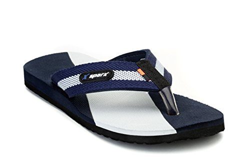 Sparx Men's Navy Blue and Grey Flip-Flops and House Slippers - 9 UK/India(43.33 EU)(SFG-14)