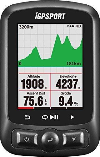Computadora de bicicleta GPS ANT + función iGPSPORT iGS618E Ciclocomputadores con mapa de ruta de navegación a prueba de agua IPX7 (mostrar en español)