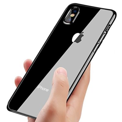 Custodia iphone XS, KKtick Caso iPhone XS Custodia Silicone TPU Ultra Sottile con Shock-Absorption Bumper Cover per Apple iPhone XS Anti-Graffio Case Cover- Nero