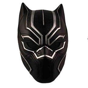 nihiug Capitán América 3 Civil War Panther Mask Casco cos Mask Halloween Helmet Props,Black-One Size