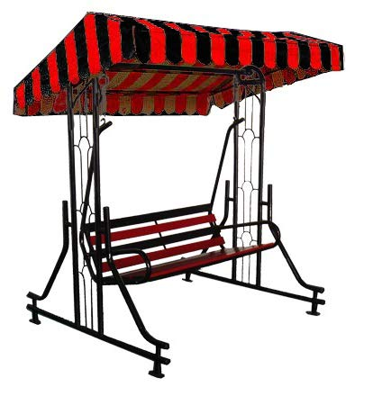 Kaushalendra Garden Swing Outdoor Frame With Canopy Roof 2 Seater High Strong Iron 300 kg. Capacity
