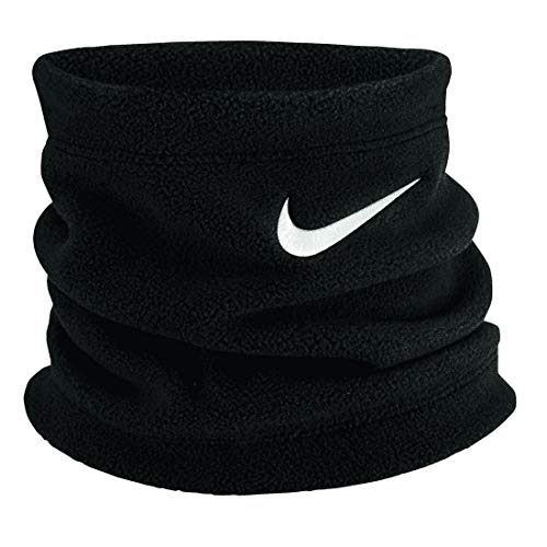 Nike Unisex - Adulto Youth Fleece Collo Scaldacollo, Nero/Bianco, Taglia Unica