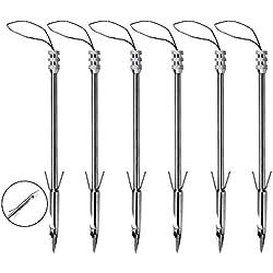 Slingshot arco flechas de pesca sports acero inoxidable punta de flecha Puntas de caza, 6pcs